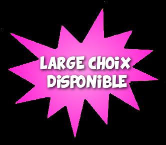 UN LARGE CHOIX DISPONIBLE